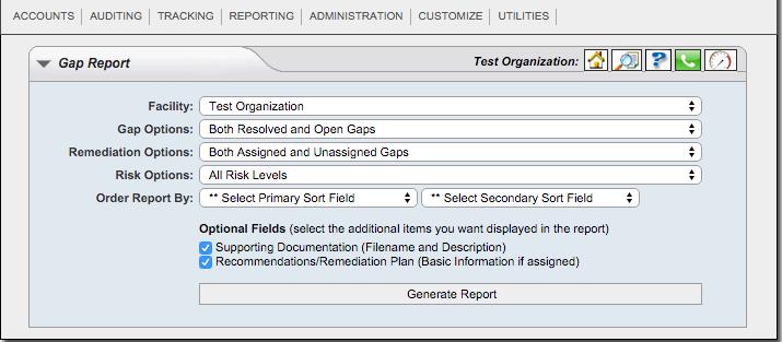 Gap Report